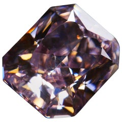 GIA Certified 1.01 Fancy Intense Pink Rectangular Brilliant Cut Diamond