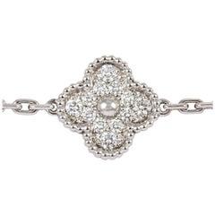 Van Cleef & Arpels Alhambra Diamond Bracelet with Five Motifs