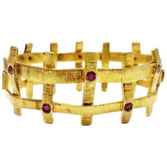 Konstantino Gold And Ruby Bracelet