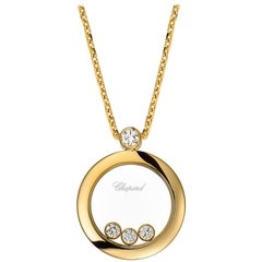 Chopard Round Pendant with Three Floating Diamonds 793929-0201