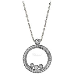 Chopard Round Diamond Pendant with Three Floating Diamonds, 793929-1301