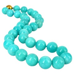 Decadent Jewels Amazonite Gold Necklace