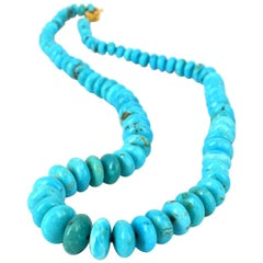 Decadent Jewels Turquoise Gold Necklace