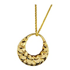 Luca Jouel Lotus Love Necklace in Yellow Gold