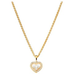 Chopard Happy Diamonds Heart Necklace in Yellow Gold, 794502-0001
