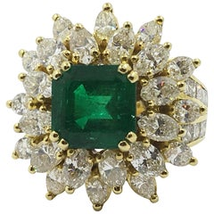 Colombian Emerald Cocktail Ring 18 Karat Gold # 21-11889