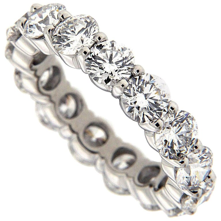 Diamond Platinum Eternity Band