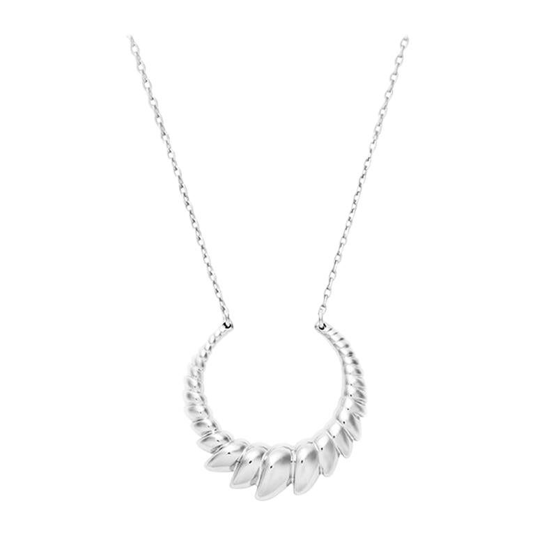 Sterling Silver Armor Necklace