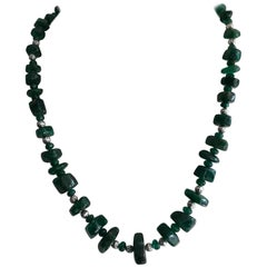 308 Carat Emerald Tumble Beads Necklace
