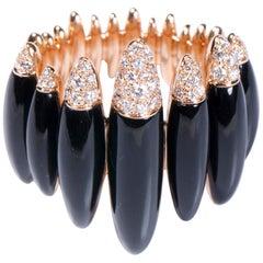Onyx 18 Karat Gold Fuseau Cocktail Ring