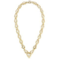 Van Cleef & Arpels Yellow Gold Necklace with Diamond