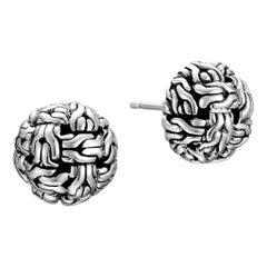 John Hardy Women's Classic Chain Silver Knot Stud Earrings