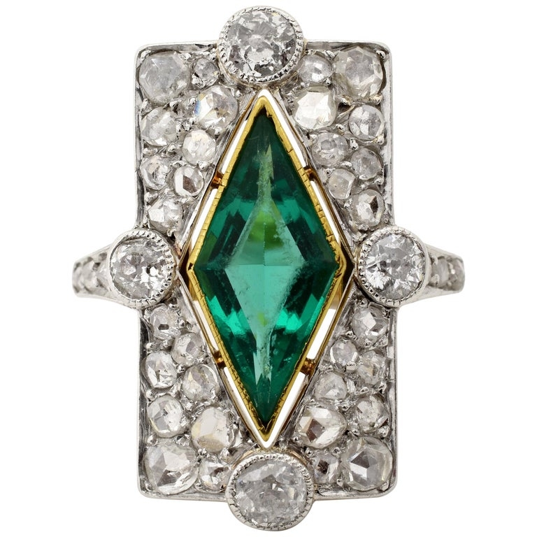 Edwardian Era Diamond Gold Platinum Ring