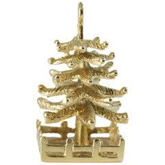 Tiffany & Co. Christmas Tree Charm in 14 Karat Yellow Gold