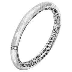 John Hardy Classic Chain Hammered Silver Bangle
