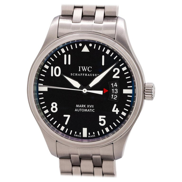 IWC Stainless Steel Mark XVII Pilot's self winding wristwatch, circa 2000s