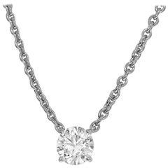 Cartier 1.59 Carat Diamond 18 Karat White Gold Love Support Pendant Necklace