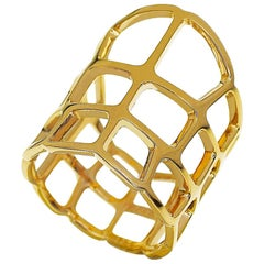 Hermes 18 Karat Yellow Gold Niloticus Ring