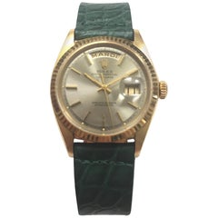 Rolex Yellow Gold Day Date Taupe Dial Automatic Wristwatch, 1960s