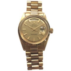 Rolex Yellow Gold Day Date Shantung Dial Automatic Wristwatch