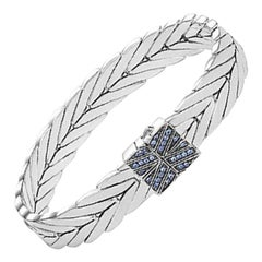 John Hardy Women's Modern Chain Silver Medium Bracelet with Pusher Clasp