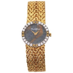 Bueche Girod Ladies Yellow Gold Diamond Multicolor Stone Dial Wristwatch