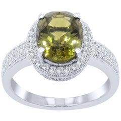 GIA Certified 3.86 Carat Alexandrite Fashion Ring