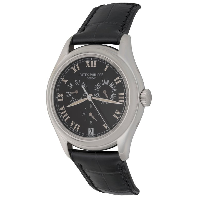 Patek Philippe Platinum Annual Calendar Day Date Month Automatic Wristwatch