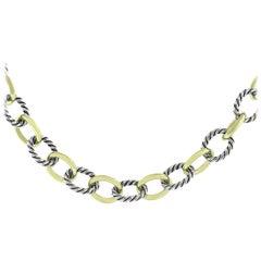 David Yurman Medium Oval Link Chain Necklace