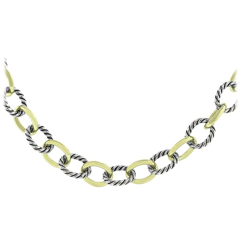 David Yurman Medium Oval Link Chain Necklace For
