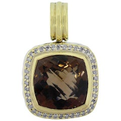 David Yurman Smoky Quartz and Diamond Pendant