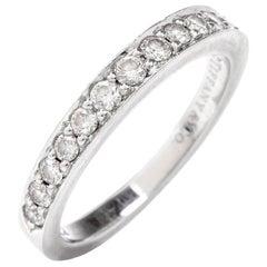 Tiffany & Co. Diamond Platinum Wedding Band Ring
