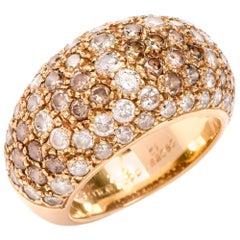 Cartier Dome Sauvage 18 Karat Diamond Dome Ring