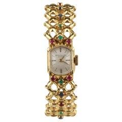Patek Philippe Ladies Yellow Gold Ornate Gubelin Band Manual Wristwatch