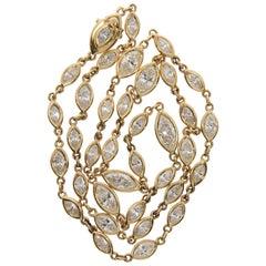 Marquise Diamond Necklace in 18 Karat Gold