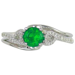 Frederic Sage 0.71 Carat Emerald Diamond Ring