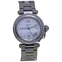 Cartier Men's Diamond Studded Automatic Watch