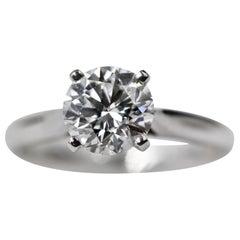 Cartier 1895 Solitaire Ring Platinum, Diamond, 1.69 Carat VVS2 F