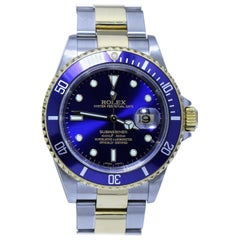 Rolex Men's Oyster Perpetual Datejust Submariner Blue 1000ft/300m Watch