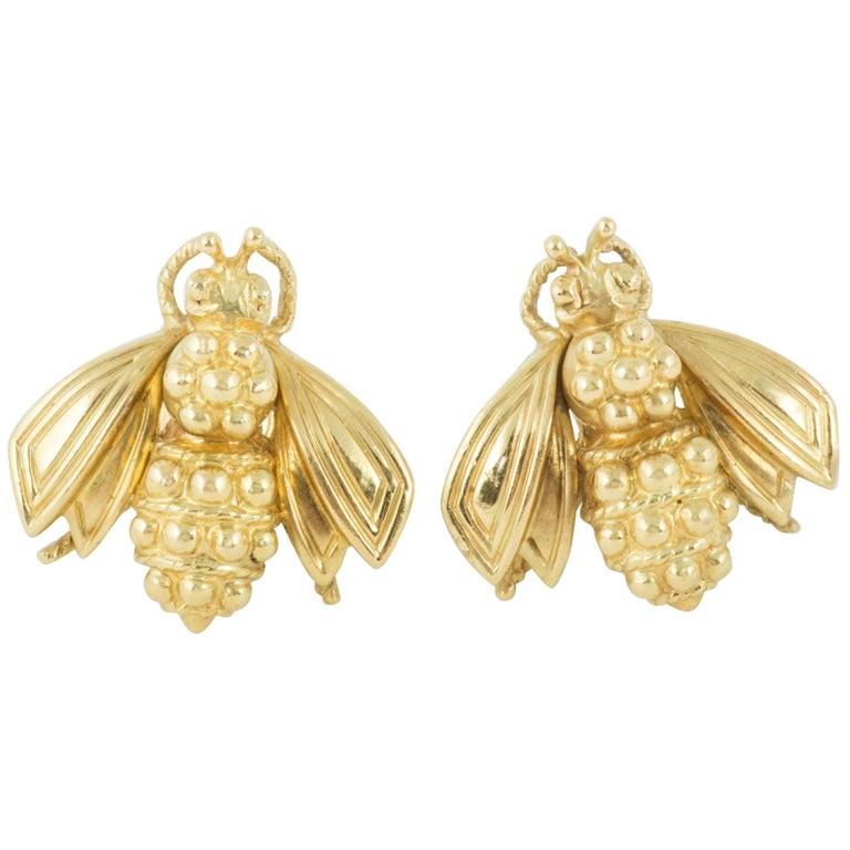 Bee Stud Earrings by Tiffany & Co. For Sale