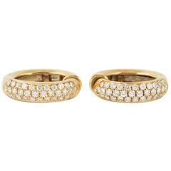 Hoop Clip Earrings with Diamonds