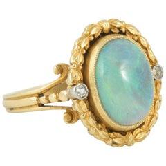 Art Nouveau Cabochon Cut Opal Ring