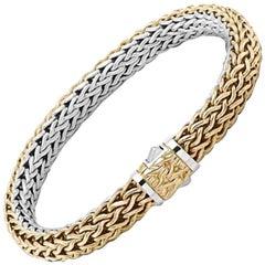 John Hardy Women's Classic Chain Gold and Silver Medium Reversible Bracelet