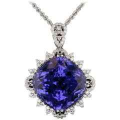GIA Certified 82.87 Carat Tanzanite Pendant Necklace
