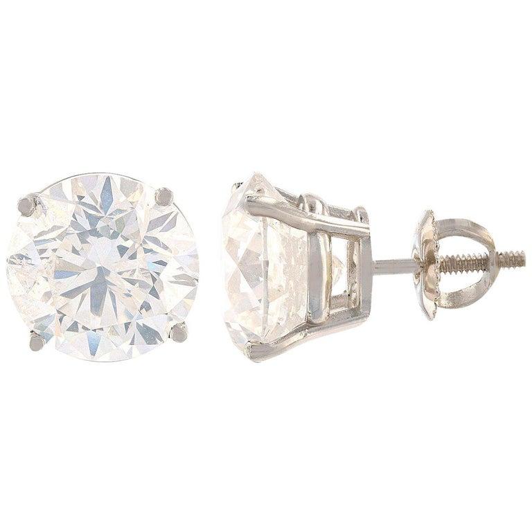 8.77 Carat Diamond Solitaire Stud Earrings