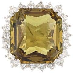 GIA Certified 18.53 Carat Alexandrite Fashion Ring