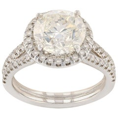 3.18 Carat Diamond Engagement Ring