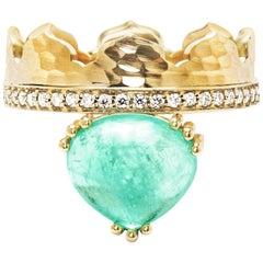 Dana Bronfman X Muzo Emerald Fairmined Gold Agra Crown Ring