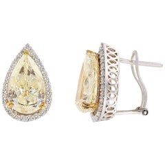 11.47 Carat Diamond Stud Earrings