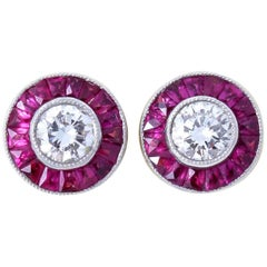 Diamond Ruby Studs